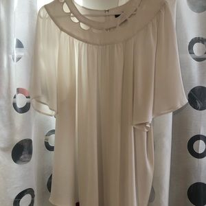 Ann Taylor blouse with neck cut outs